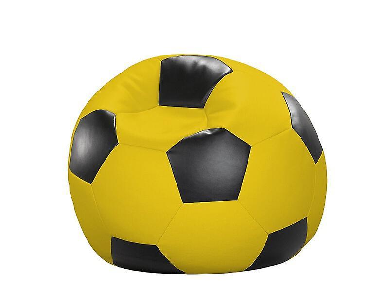 Sitzkissen Fussball X Sitzsack Cm Gelb Kunstleder 90 schwarz NXZ8PknO0w