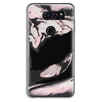LG V30 Transparent Case (Soft) - Pink stream
