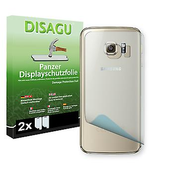 Samsung Galaxy S6 edge back screen protector - Disagu tank protector protector (deliberately smaller than the display, as this is arched)