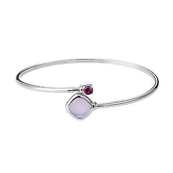 Orphelia 925 sølv armbånd Twist mælket Pink farve Glassantik ZA-7404