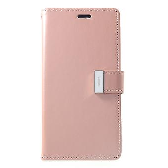 Mercury GOOSPERY Rich Diary to iPhone XS Max-RoseGold