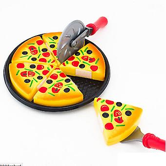 Childrens kids plastic 6 PCs pizza slices pretend food kitchen role play toys