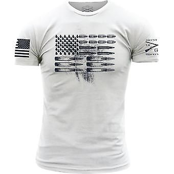 Grunt Style Ammo Flag Crewneck T-Shirt - White