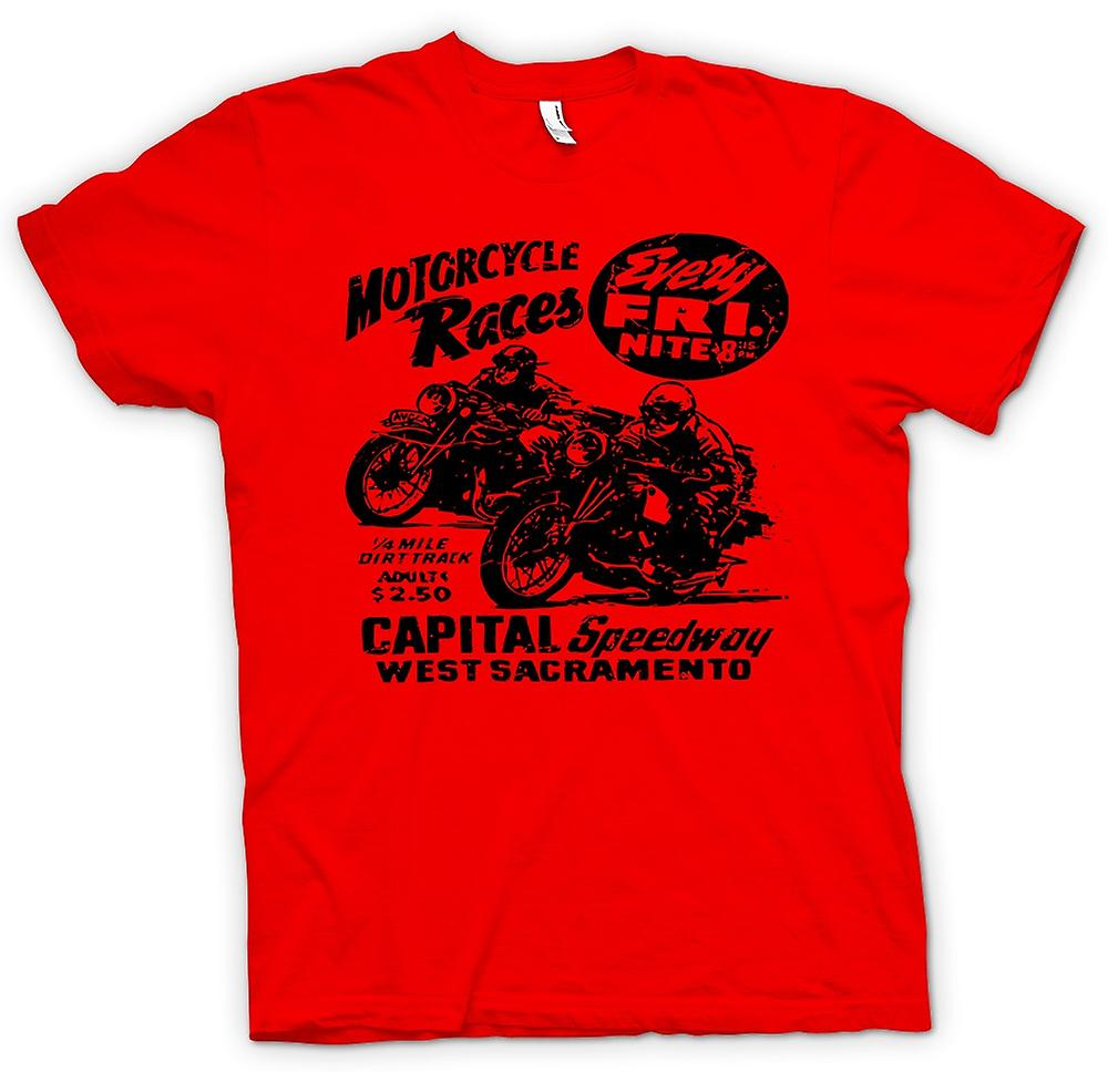Mens T-shirt - Classic Bike Motorcycle Race