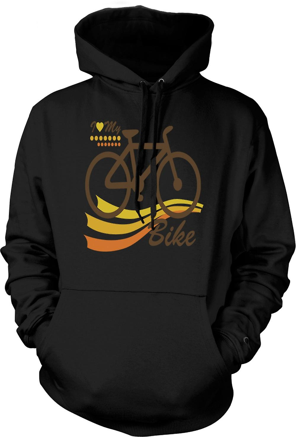Mens Hoodie - I Love My Bike - Funny