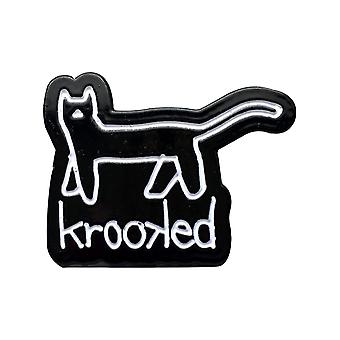 Krooked Black-White Kat Pin Badge