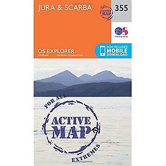 OS Explorer kaart actief (355) Jura en Scarba (OS Explorer actieve kaart)