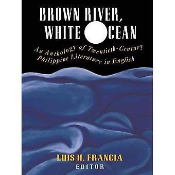 Río marrón, blanco océano