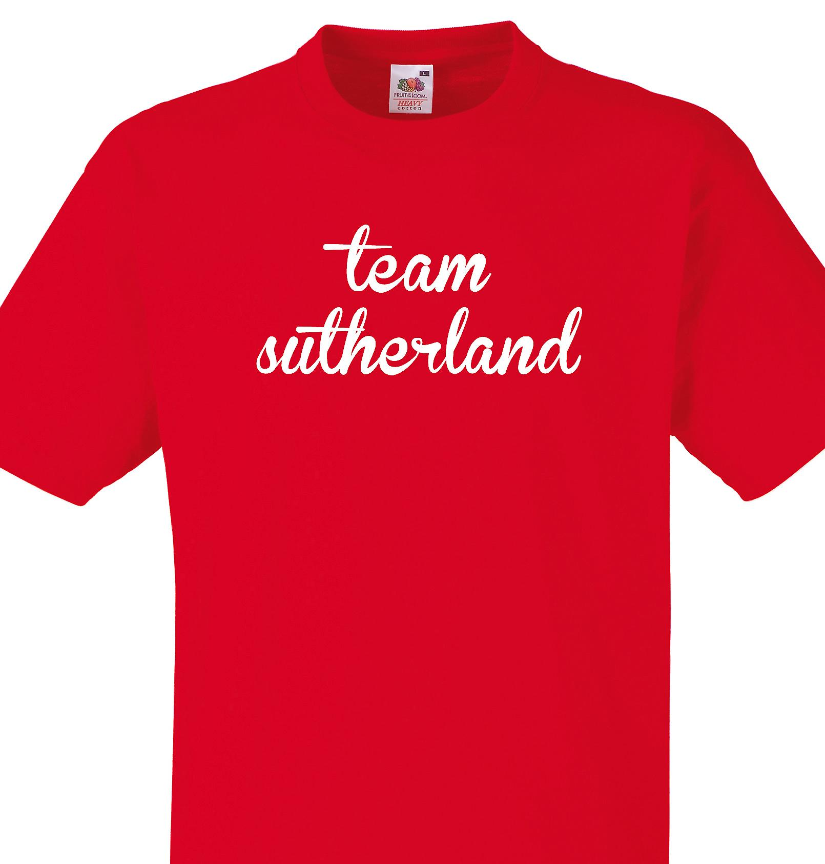 Team Sutherland Red T shirt