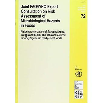 Gemensamma FAO / WHO Expert samråd om riskbedömning av mikrobiologiska faror i livsmedel: riskerar karakterisering av Salmonella Spp. i ägg och Broiler... Maj 2001 (FAO Food and Nutrition Paper)