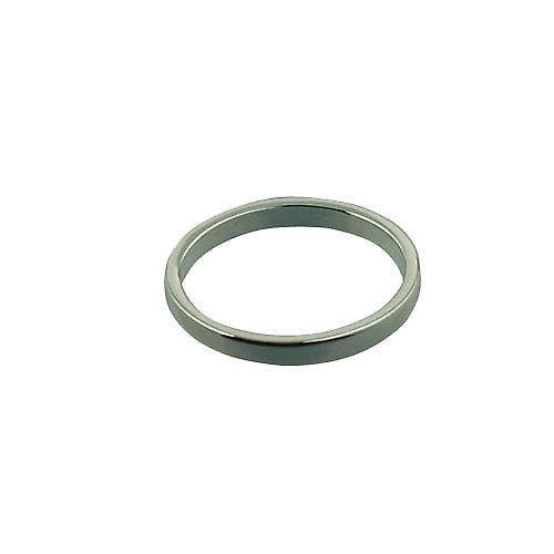 Platinum 2mm plain flat Wedding Ring Size N