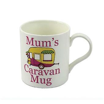Mum'S Caravan Mug Fine China Mug Gift Idea