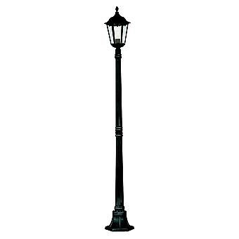 Alex Black Outdoor Lamp Post With Clear Glass Diffuser - Searchlight 82508BK