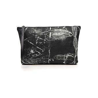 Alexander Mcqueen White/black Polyester Clutch