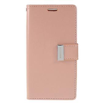 Mercury GOOSPERY Rich Diary till Samsung Galaxy S10e - RoseGold