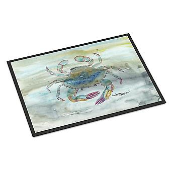 Female Blue Crab Watercolor Indoor or Outdoor Mat 24x36
