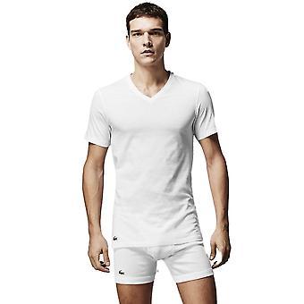 Lacoste con cuello en v 3 Pack camisetas blanco
