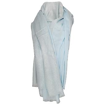 Marie Mero Blue Shimmer Lightweight Long Scarf
