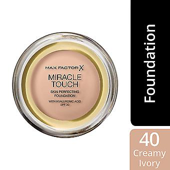 3 x Max Factor Miracle touch hud Perfecting Foundation SPF30-40 krämig elfenben