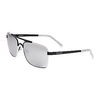 Breed Draco Polarized Sunglasses - Black/Silver