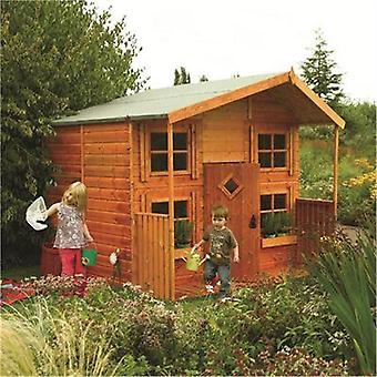 Rowlinson Wooden Shiplap Hideaway Childrens Playhouse