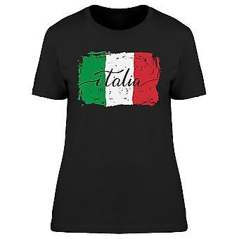 إيطاليا الإيطالية العلم الطلاء خطوط المحملة المرأة-صورة من قبل Shutterstock