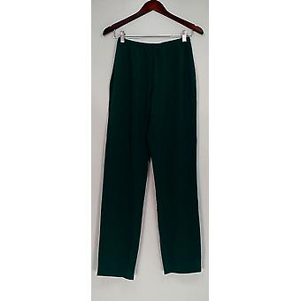 Susan Graver Women's Pants Essentials Lustra Knit Pull On Green A285514