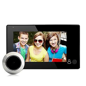 Danmini yb-43ch peephole viewer doorbell 145 degree wide viewing video intercom built-in 4pcs ir led