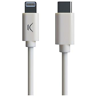 USB-C cable to Lightning MFI (1 m) White