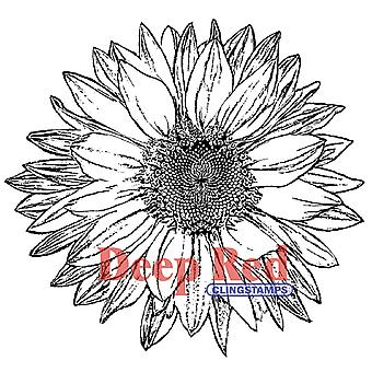 Deep Red Cling Stamp Large Sunflower 4X500145