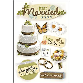 Stickers 3 D Just Married Stdm 24