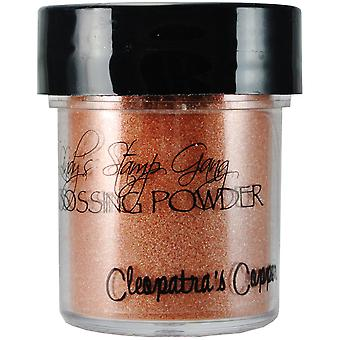 Lindy's Stamp Gang 2 Tone Embossing Powder .5Oz Jars Cleopatra's Copper Lsg Ep 4