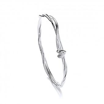 Cavendish French Stranded Heart Silver Bangle