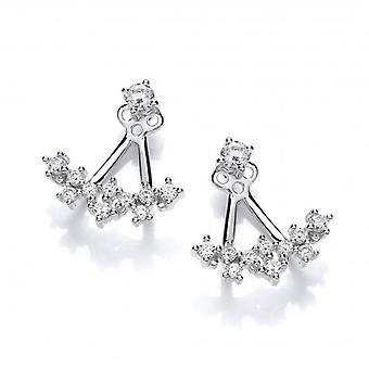 Cavendish French CZ Galaxy Jacket Earrings