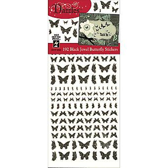 Dazzles Stickers-Jewel Butterflies-Black DAZ-2546