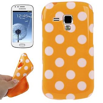 Protective case TPU points case for mobile Samsung Galaxy S duos S7562 orange