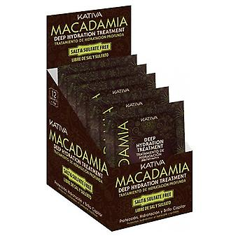 Kativa Macadamia Moisturizing Treatment 12 Sachets X 35 Gr
