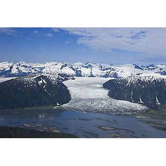 Aerial View Of Taku River And Hole In The Wall Glacier Inside Passage Alaska PosterPrint