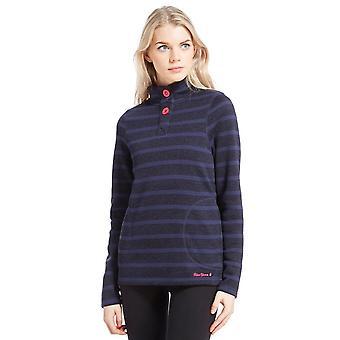 Peter Storm Women's Sandra Stripe Fleece Navy