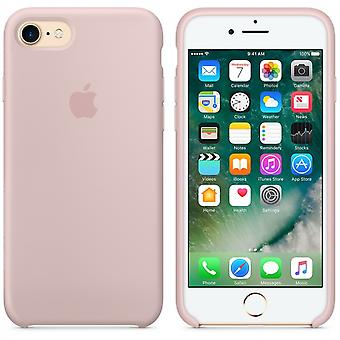 Apple Silicon mikro Fiber tilfelle for iPhone 8 / 7 - sand rosa