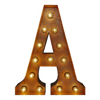 Large Vintage Letter Lights - A