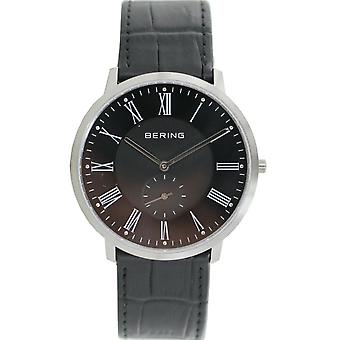 Bering mens watch wristwatch slim classic - 11139-408 leather