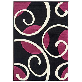 Valera Black & Purple Modern Rug