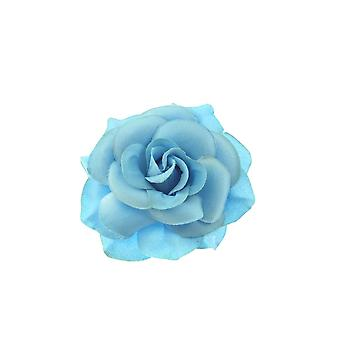 Baby Blue Pastel Rose Hair Clip