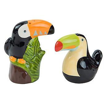 Tropical Toucans Pretty Birds Salt and Pepper Shaker Set