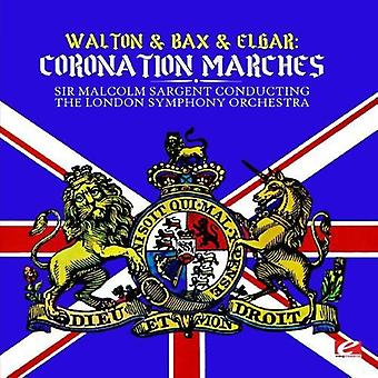 Sir Malcolm Sargent Conducting London Symphony - Walton & Bax & Elgar: import USA koronacji marsze [CD]