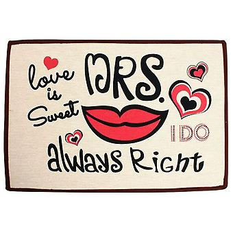 Superstudio Doormat Carpet Mrs Right -60X40Cm-- (Maison , Textile , Paillassons)
