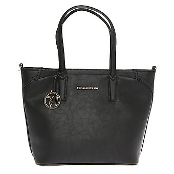 Trussardi Jeans women's handbag with wide faux leather with Saffiano Print Handles – 37x29x17 Cm-Mod. 75B700SSM