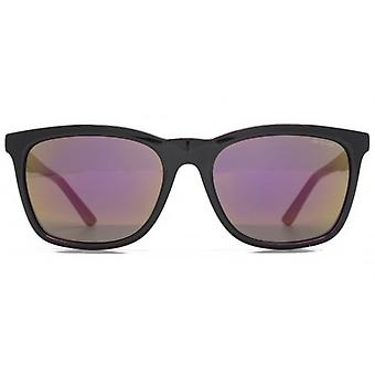 Animal Slider Casual Square Plastic Sunglasses In Black On Fuchsia
