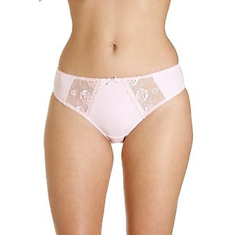 Camille Pink Womens Jessica Lace Embroidery Brief Knickers